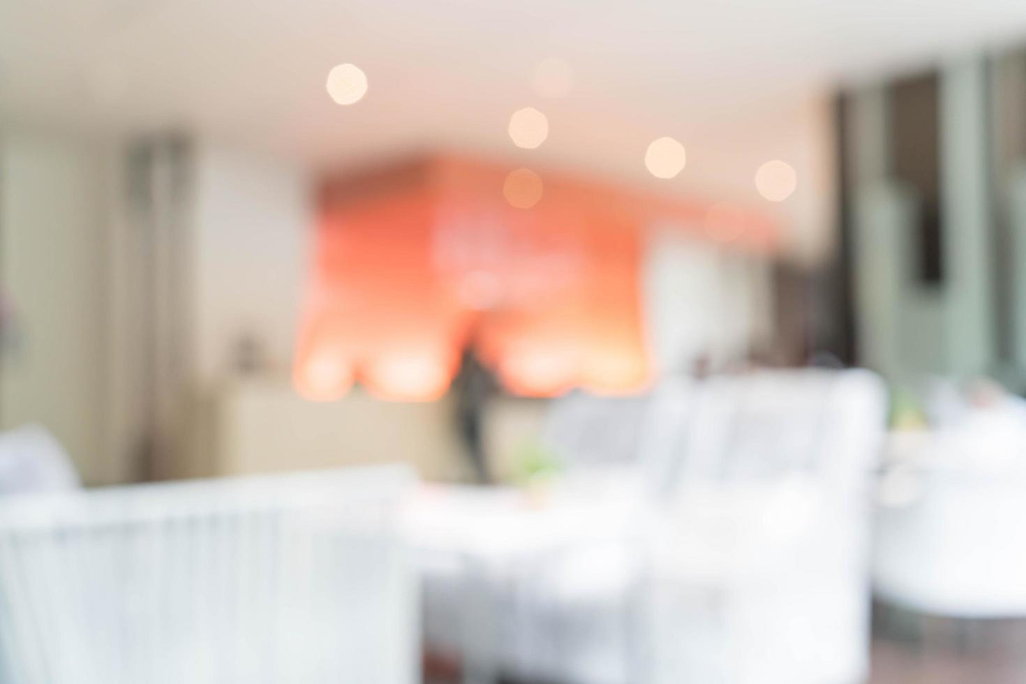 Interior del vestíbulo del hotel de desenfoque abstracto para el fondo foto