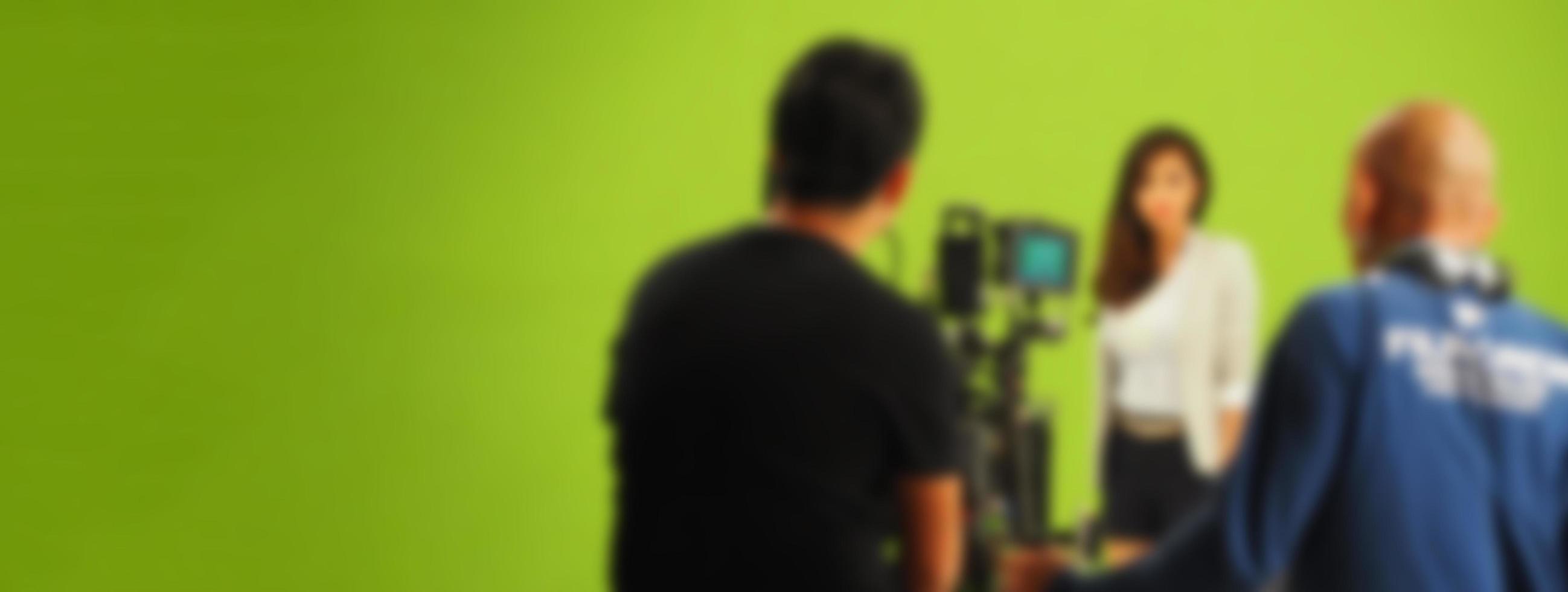 imágenes borrosas de hacer un video comercial de televisión foto
