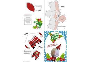 Weihnachtsmann Papierhandwerk