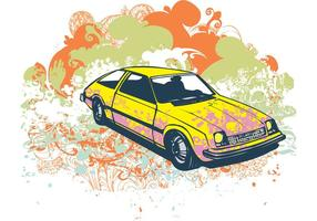 Grunge retro auto vector illustratie