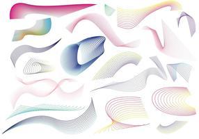 Line Vector Swirls och Patterns