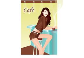 Girl In Cafebar