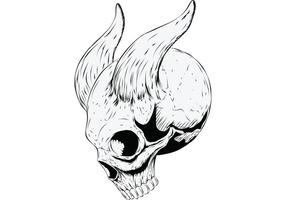 Skull with Horns