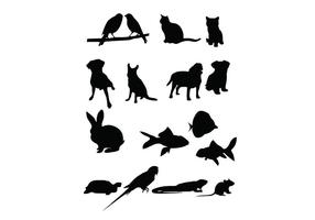 16 Pet Vector Silhouetten