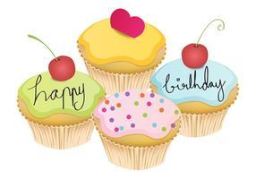 Mei Cupcake Vectoren