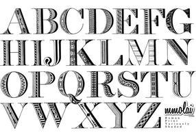 Vector lettertype: RPVS