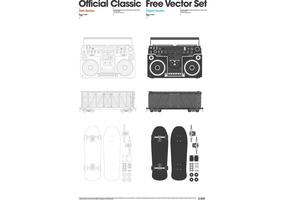 Officiell Classic Free Vector Set 1.