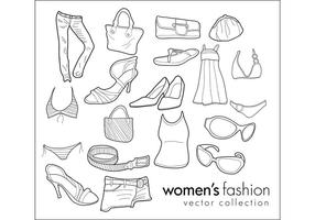 Free Vector Doodles - Women's Clothing & Fashion