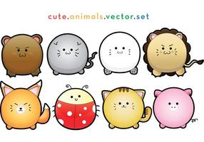 Vector-cute-puffy-animals