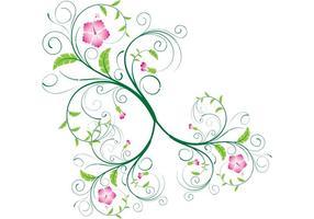 Remolinos del vector y remolinos florales