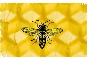 Biene und Bienenwabe