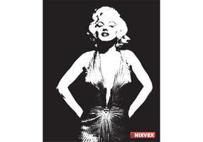 NixVex kostenlos Marilyn Monroe Vektor
