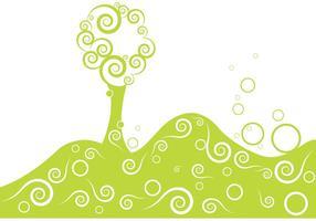 Árbol de vector estilizado