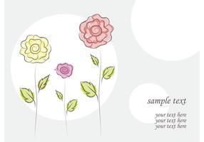 Doodles de fleurs de vecteur libre