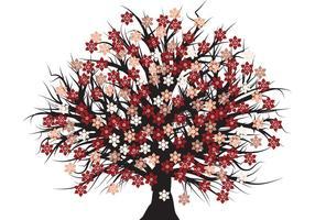 Árvore de flor de vetores grátis