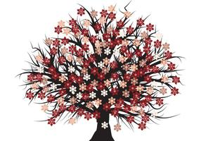 Freier vektorblütenbaum