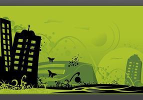 Vector-green-city-art