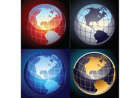 Gratis set vector globes