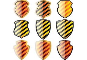 Free-set-of-of-shields-in-black-and-yellow-stripes