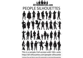 Silhueta das pessoas