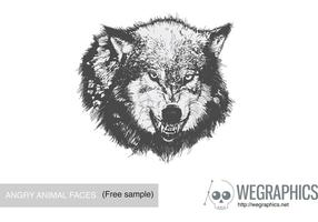 Angry Animal Face Vector