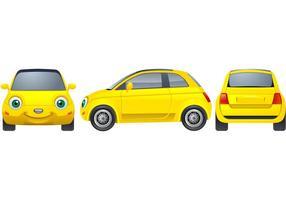 Gele auto