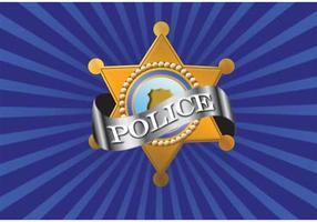 Vector insignia de policía