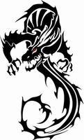 Dragón negro del vector