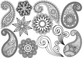 Paisley Vector Pack Two