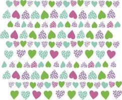 heart corazones multicolor