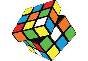 Cubo do Rubik do vetor