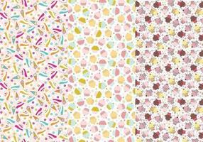 Cupcakes e Cones Illustrator Patterns