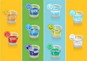 Social Icon Vector Pack de bebidas