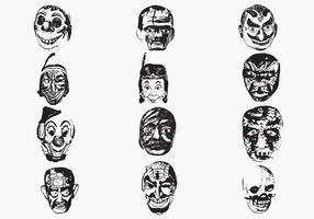 Weird Mask Vector Pack Eins