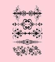 Art Nouveau Border Vector Pack Two