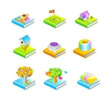 Various Book Icon Vectors