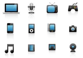 Media Pack Vector Icono