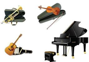 Realistic-instruments-vector-pack