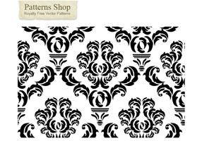 Free damask vector pattern  2