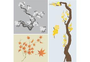 Japanese-trees-vector-pack