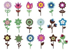 Retro-flower-vector-pack
