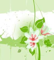Watercolor Lilies Background Vector