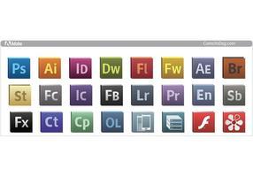 Adobe CS5 logo icons