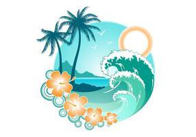 Vector-summer-island