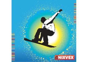 """NixVex """"SnowBoarder"""" Vector Libre"""
