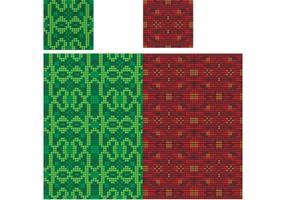 Tejido tejido kilt rojo verde de Escocia