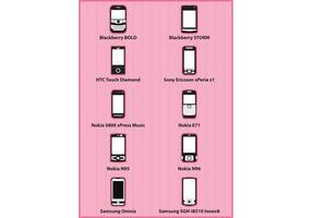 Telefoon iconen