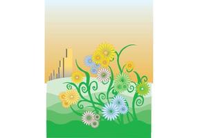 Flor de margaritas vectoriales