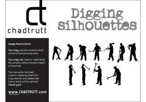 Vector-digging-silhouette