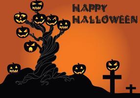 Halloween-tree-vector